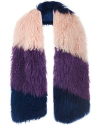 House of Holland - Mongolian Fur Scarf - Lyst