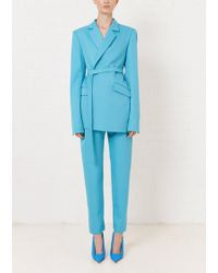House of Holland Turquoise Tailored Trouser - Blue