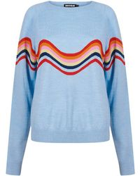 House of Holland - Wavy Peace Cut Out Jumper (blue) - Lyst