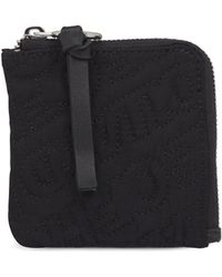 House of Holland 'hoh' Black Embroidered Zip Wallet