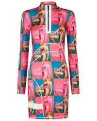 House of Holland - Dreamy/power Mini Dress - Lyst