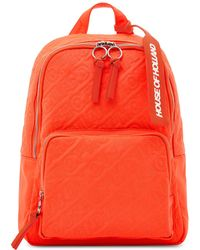 House of Holland - 'hoh' Neon Orange Embroidered Backpack - Lyst
