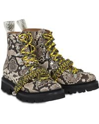 House of Holland - X Grenson Hiking Boot (brown Snake Skin) - Lyst