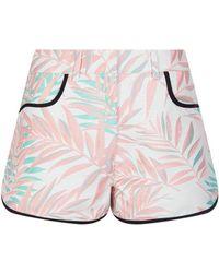 House of Holland - Jacquard Palm Leaf Shorts - Lyst