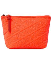House of Holland - 'hoh' Neon Orange Embroided Grab Bag - Lyst