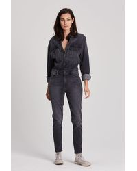 Hudson Jeans Fitted Long Sleeve Jumpsuit - Black