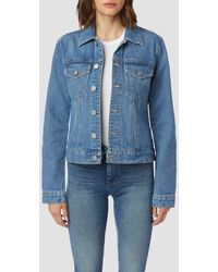 Hudson Jeans Classic Fitted Trucker Jacket - Blue