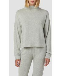 Hudson Jeans Mock Neck Sweater - Gray