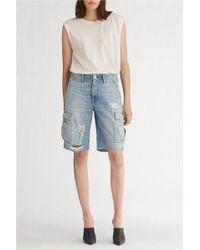 Hudson Jeans Jane Cargo Short - Blue
