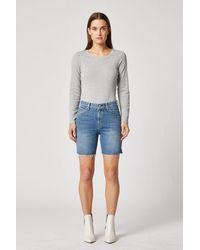 Hudson Jeans Hana High-rise Biker Short - Blue