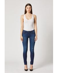 Hudson Jeans Krista Low-rise Super Skinny Jean - Blue