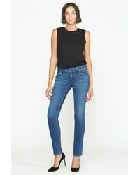 Hudson Jeans Collin Mid-rise Skinny Jean - Blue