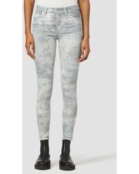 Hudson Jeans Barbara High-rise Super Skinny Ankle Jean - Grey