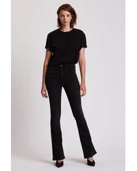 Hudson Jeans Holly High-rise Flare Jean - Black