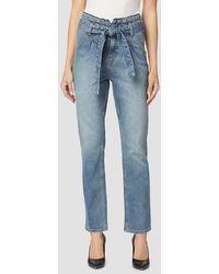 Hudson Jeans Remi High-rise Paper Bag Pant - Blue