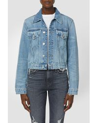 Hudson Jeans Cropped Trucker - Blue