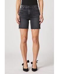 Hudson Jeans Hana High-rise Biker Short - Black