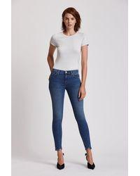 Hudson Jeans Nico Mid-rise Super Skinny Step Hem Jean - Blue