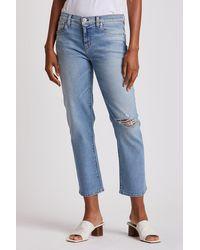 Hudson Jeans Nico Mid-rise Crop Straight - Blue