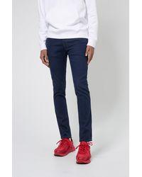 HUGO Jean Extra Slim Fit en denim stretch bleu foncé