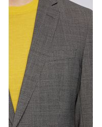 BOSS by HUGO BOSS Slim-fit Suit In Micro-patterned Stretch Fabric - Gray