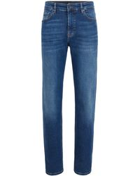 BOSS Relaxed-fit Jeans In Soft-touch Super-stretch Denim - Blue