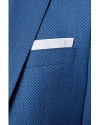 BOSS by HUGO BOSS Slim-Fit Dreiteiler aus Schurwoll-Serge - Blau