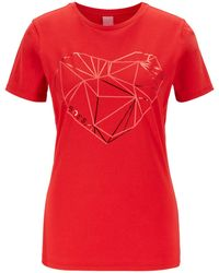 BOSS Tearty Graphic Logo Tshirt - Red