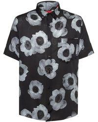 BOSS Large-scale Floral Shirt - Black