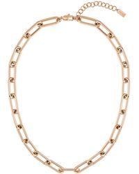 BOSS by HUGO BOSS Gold-effect Necklace With Tubular Links - Metallic