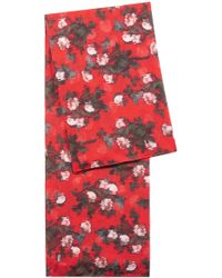 HUGO - Square Scarf In Modal With Abstract Floral Pattern - Lyst
