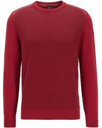 BOSS Regular-fit Sweater With Structured Front Panel