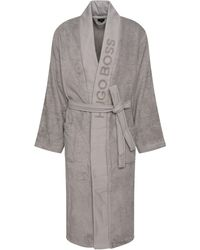 BOSS by Hugo Boss - Unisex Dressing Gown In Egyptian Cotton - Lyst
