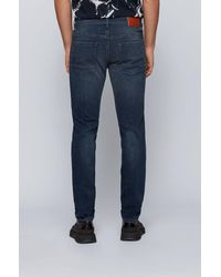 BOSS by HUGO BOSS Skinny-fit Jeans Van Licht Super-stretchdenim - Blauw