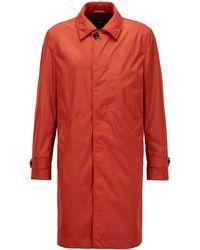 BOSS by Hugo Boss Water-repellent Coat With Monogram Lining - Orange
