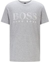 BOSS by HUGO BOSS Relaxed-fit T-shirt Van Katoen Met Upf 50+ En Logo - Metallic
