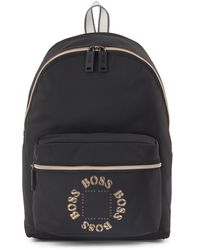 BOSS by Hugo Boss Structured-nylon Backpack With Layered Metallic Logo - Black