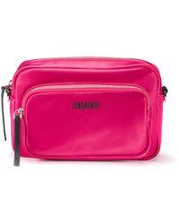 HUGO Slim-fit Blouse In Easy-iron Poplin - Pink