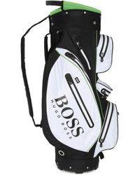 BOSS Green Multifunctional Cart Bag: 'golf_cart' - Black