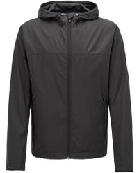 BOSS - Lightweight Water-repellent Hooded Jacket In Ripstop Fabric - Lyst
