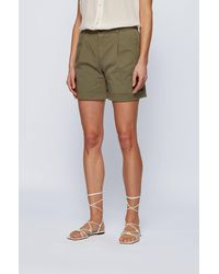 BOSS by HUGO BOSS Short chino Relaxed Fit en coton stretch biologique - Neutre
