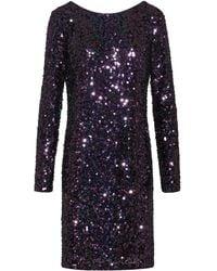 HUGO Sequinned Dress With Long Sleeves - Purple