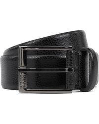 BOSS by Hugo Boss Gürtel aus italienischem Leder mit geprägter Narbung - Schwarz