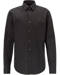 BOSS Regular-fit Business Shirt In Pure Cotton - Black