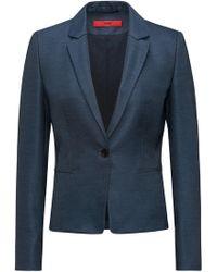 HUGO - Slim-fit Blazer In Lustrous Stretch Fabric - Lyst