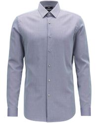 c7df32e04 Boss Slim-fit Shirt In Cotton: 't-christo' in Natural for Men - Lyst