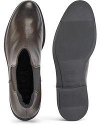 BOSS by HUGO BOSS Botines de estilo Chelsea elaborados en Italia en piel con forro Outlast® - Marrón