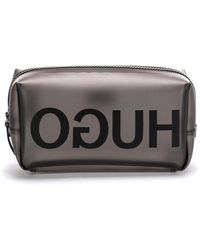 HUGO Translucent Washbag With Reversed Logo - Multicolour