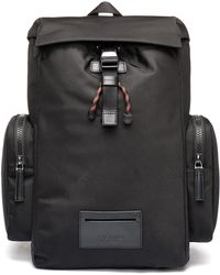 HUGO - Backpack In Nylon With Leather Trims And Reverse Logo - Lyst