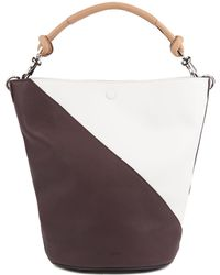 BOSS Colorblock Bucket Bag In Soft Leather - Red